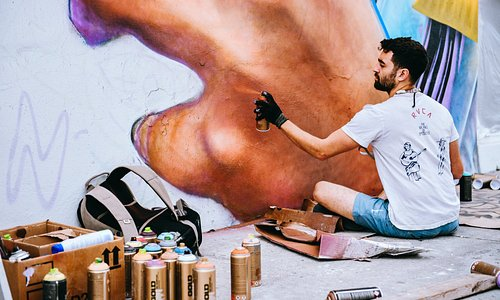 Artists frequently create new murals, especially during Miami Art Week in December.