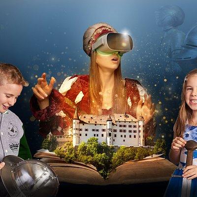 Auf Schloss Traatzberg  erleben Sie das Mittelalter, dank der Virtual Reality Führung und des Erlebnisbereiches, hautnah.
