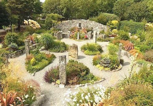 Garden image taken by a drone