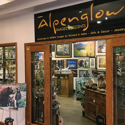 Alpenglow Images & Accents is located in the Park Place Mall at 145 E. Elkhorn Ave., Estes Park, CO.