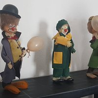 Just a small selection of what is available to see. I found the clown doll on the left particularly spooky!