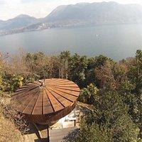 Vista aerea della Casa dell'orologiaio - aerial view by drone.