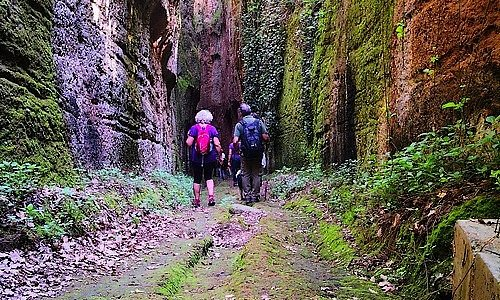 The etruscan carved ways incredible spots in the landscapes of tuscia the land where the etruscan culture have dominated