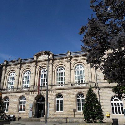 Entre les cafés et la mairie, face à la très belle cathédrale, non loin du manège, découvrez le musée des beaux-arts !