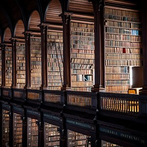 The Long Room houses over 200,000 of Trinity College's oldest books