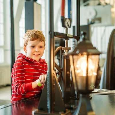 Energy Discovery Centre's Lightning Hall has a collection of hands-on exhibits introducing different electricity generators.
