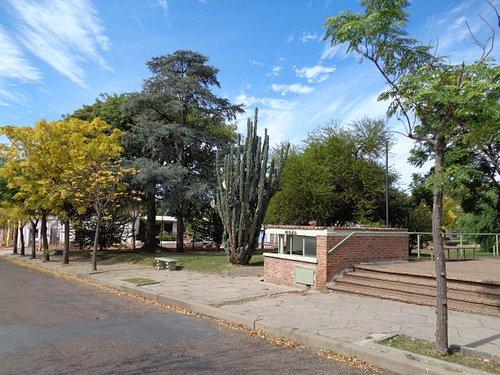 Vista de un sector de la Plaza San Martín