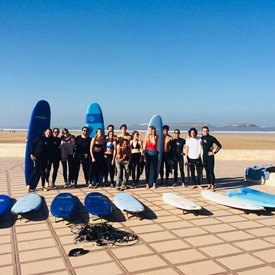 """""""Groupe of Happy friends doing to surf at Essaouira's beach Morocco"""""""