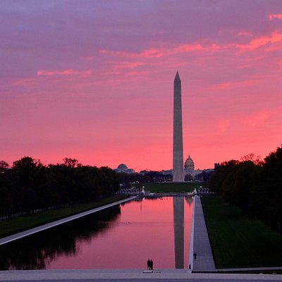The Reflecting Pool On The National Mall, at dawn