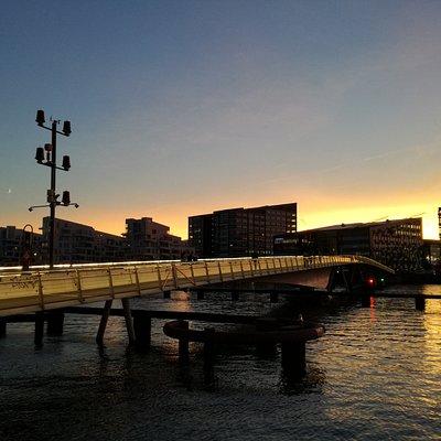Sunset at Bryggebroen, Cph