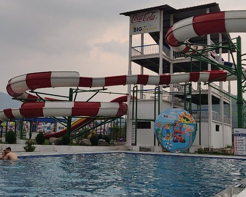 slides and swimming pool
