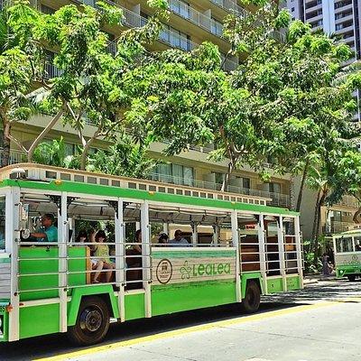 LeaLea Trolley running Kuhio Avenue