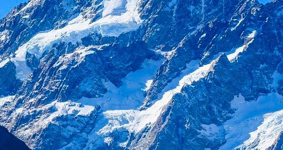 Close up of Mount Cook, the highest mountain in New Zealand, UNESCO World Heritage Site, South... by robertharding