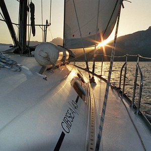 Sail into the sunrise with us...