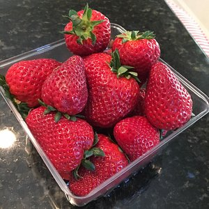 Huge,delicious Rudd Farm strawberries!