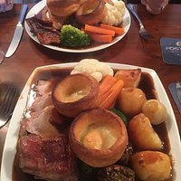 Sunday lunch traditional style. OMG