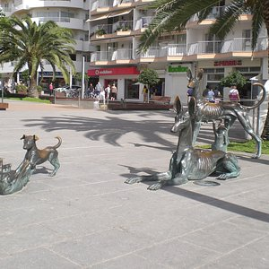 Bronze Dogs.