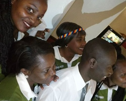 Scenery Adventures team during farewell party for Aviation students from Angola
