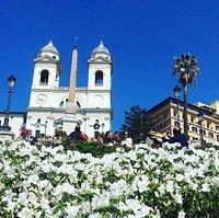 La scalinata di Piazza di Spagna ricoperta di azalee 🌺  Una tradizione che risale agli anni '30, uno spettacolo che potete ammirare fino al 15 Maggio 🌺🌺