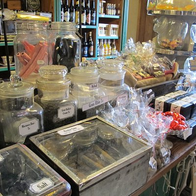 We have lots of old fashioned candy at the old store.