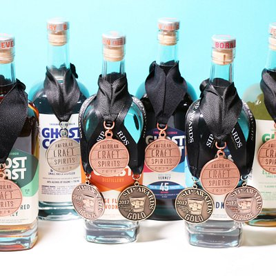 A few of our award-winning spirits.