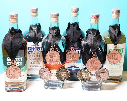 A few of our award-winning spirits.