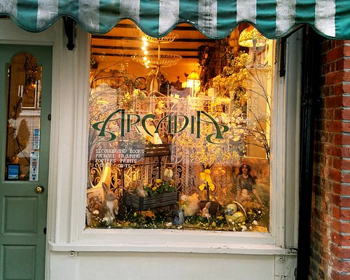 The charming windows hint at the magic within.