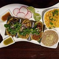 Street Tacos (3) non gmo yellow corn tortilla, choice of meats