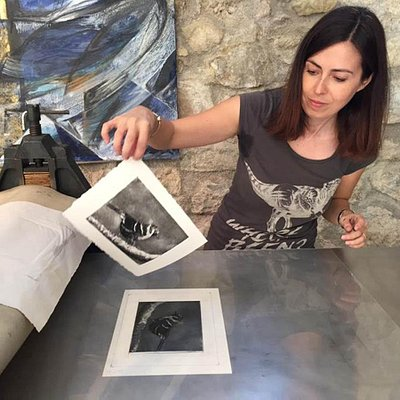 etching and aquatint by Annalisa M.