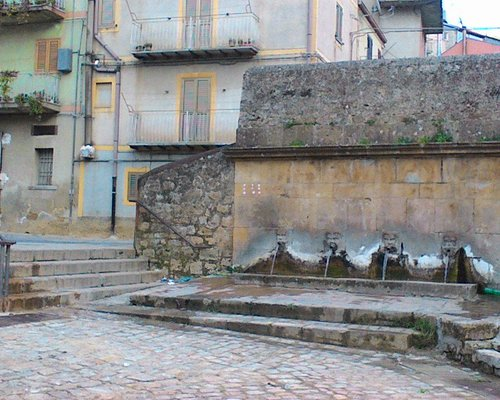 Stairs to fountain