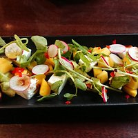 Very nice mango and feta starter salad