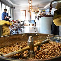 Café and roastery in one.