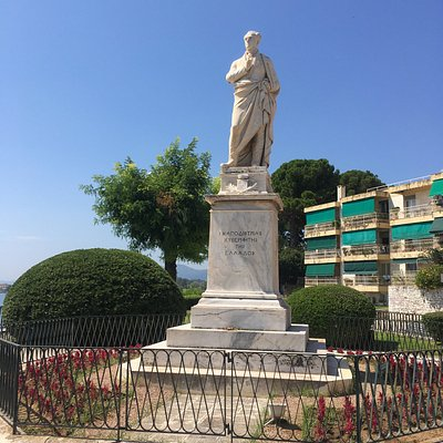 Front of the Statue Count Ioannis Kapodistrias.