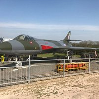 The Museum's Hawker Hunter following restoration in 2019