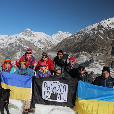 Group of photos in Annapurna circuit Trek..