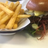 Our salted beef burger