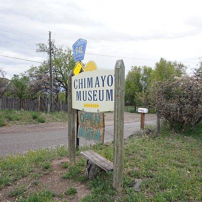 Chimayo Museum Sign near Ortega's Weaving Shop