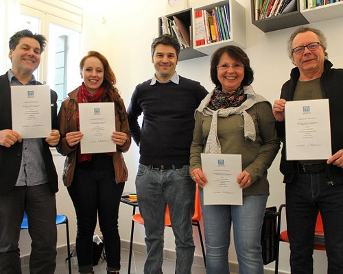 Italian school Venice - Easy Italian Language & art-. At the end of our intensive Italian language course with our Italian language students! Thank you!!!