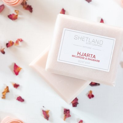 HJARTA SOAP BAR WILD RHUBARB & ROSE