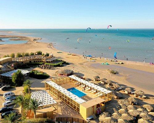 Der Kiteboarding Club direkt am Kite Strand von El Gouna.