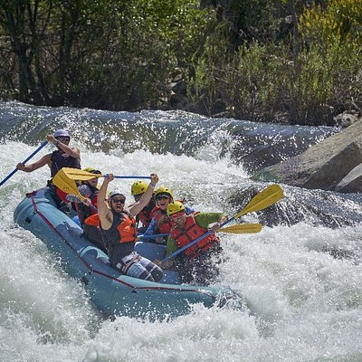 Gina and crew styling The Chute on the Class 4+ upper Kaweah River.