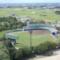 東埼玉資源環境組合 展望台から見る越谷市民球場