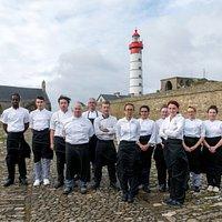 L'équipe de cuisine du Restaurant de la Pointe Saint Mathieu