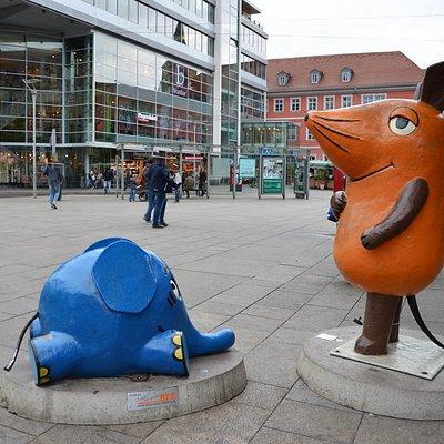 Maus und Elefant auf dem Erfurter Anger