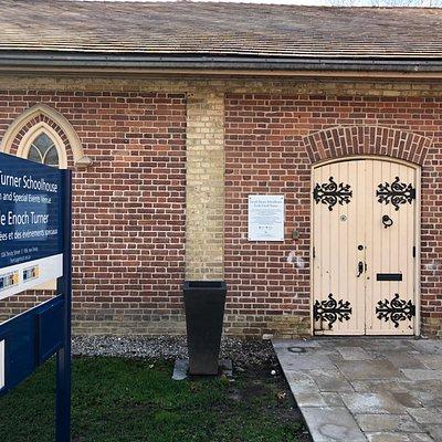 front door @ Enoch Turner Schoolhouse