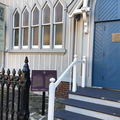front door @ Heliconian Hall