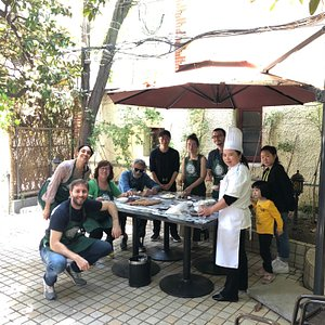 cooking class at the garden