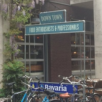 Entrance to the Downtown Gourmet Market in Eindhoven