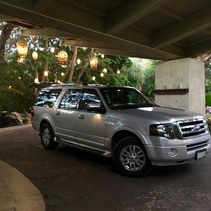 Private transportation luxury van