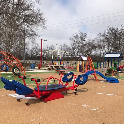 We-Saw-- one of the many inclusive pieces of equipment at Harmony Playground